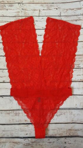 New Bluebella Valentines Emerson Lace Plunge Body in Red SEU1