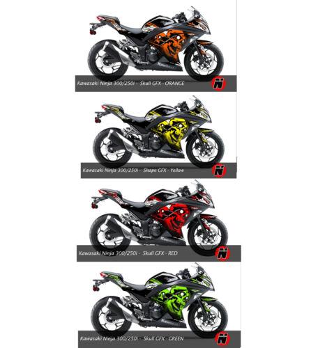 250i Fairings Graphic Wrap Kit Decals Set Kawasaki Kawasaki NINJA300