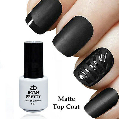 Super Matte Top Coat NO Wipe UV Gel Polish BORN PRETTY Soak Off Manicure 5ml