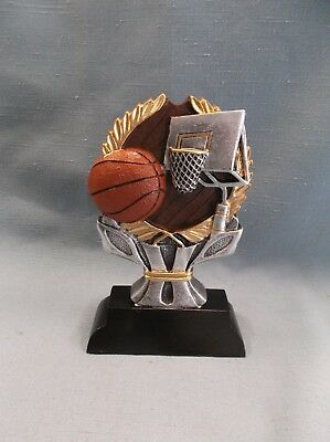 male BASKETBALL shield trophy full color resin award RIC403
