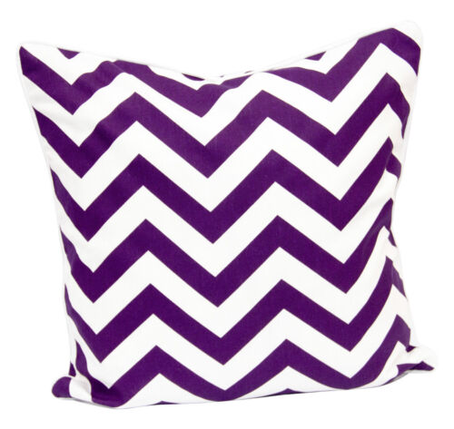 100/%Cotton Fabric Chevron Cushion Cover Geometric Design Zigzag Style in 18X18