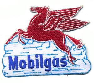 Mobilgas-patch-badge-Mobil-Pegasus-gasoline-motor-oil-service-station-hot-rod