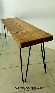 Handmade-Garden-Kitchen-Dinning-Wooden-Bench-With-Hairpin-legs-Many-Colours