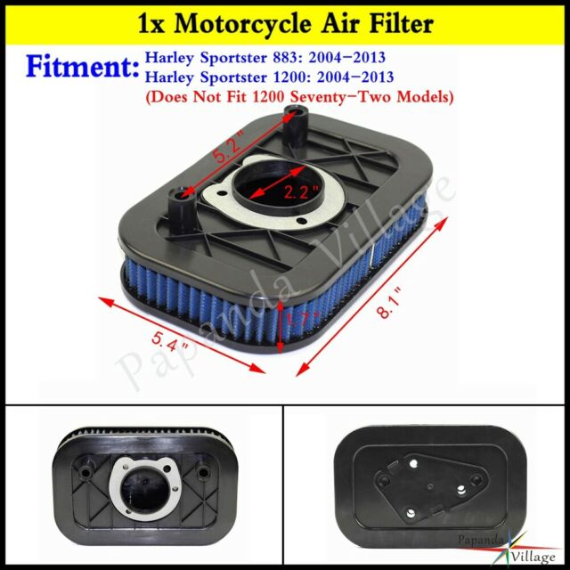 Performance Air Cleaner Filter 29331-04 for Harley Sportster 883 1200 04-13  Blue