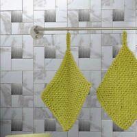 Self Adhesive Wall Tiles Peel And Stick Backsplash Kitchen Grey Gray White 6pc