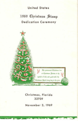 #1384-C1 First Day Ceremony Program 6c Christmas Stamp w/FDC
