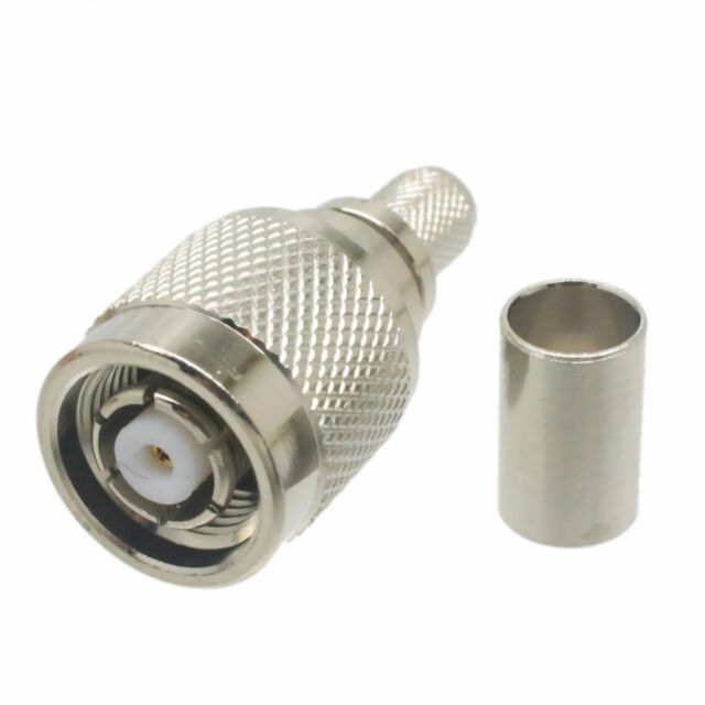 20-Pack RP-TNC Male Crimp Solder Connector for LMR-240 KSR-240 Coaxial Cable