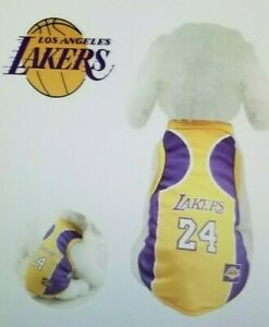 Details about LAKER'S #24 KOBE BREATHABLE MESH JERSEY DOGS/CATS NEW SHIPS FROM CALIF S TO 6X