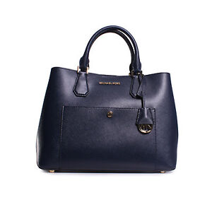 b190f120119d Image is loading NWT-Michael-Michael-Kors-Greenwich-Large-Leather-Satchel-