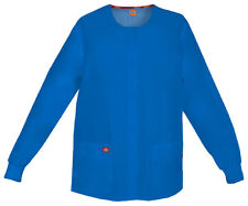 feb87cdd6af Dickies Women's Snap Front Round Neck Pockets Knit Cuffs Warm Up Jacket.  86306