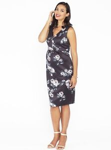 f7e6c847f2b31 Image is loading Breastfeeding-Sleeveless-Zipper-Nursing-Party-Dress -Floral-Print
