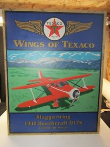 """Texaco- Wings of Texaco """"Staggerwing""""1939 Beechcraft D17s..12th in Series. Z577"""