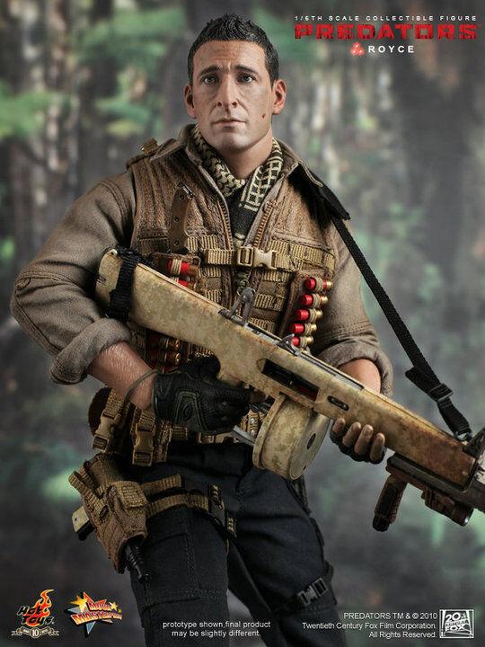 Hot Toys Royce Adrien Brody depredadores 2018: figura De 16