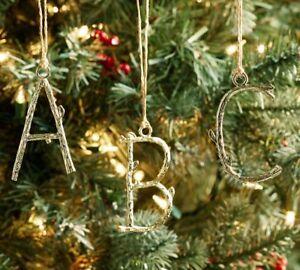 Pottery Barn Christmas.Details About Nib Pottery Barn Christmas Petite Metal Vine Letter T Ornament So Cute