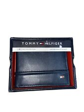 NEW TOMMY HILFIGER MEN/'S PREMIUM LEATHER DOUBLE BILLFOLD WALLET OLIVE 31TL13X041