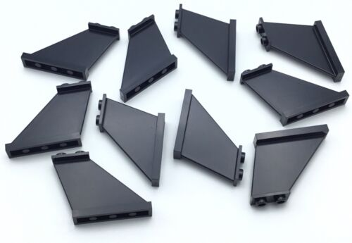 LEGO 10 NEW BLACK 4 X 1 X 3 AIRPLANE TAIL PIECES PARTS