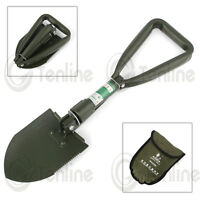 Faithfull Folding Snow/camping/digging Round Shovel/spade/pick/trenching + Pouch