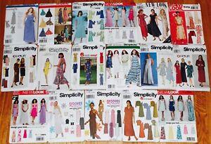 U-PICK-Simplicity-Maxi-Dress-Sew-Pattern-Casual-Prom-Sun-Dress-3-28W-UC