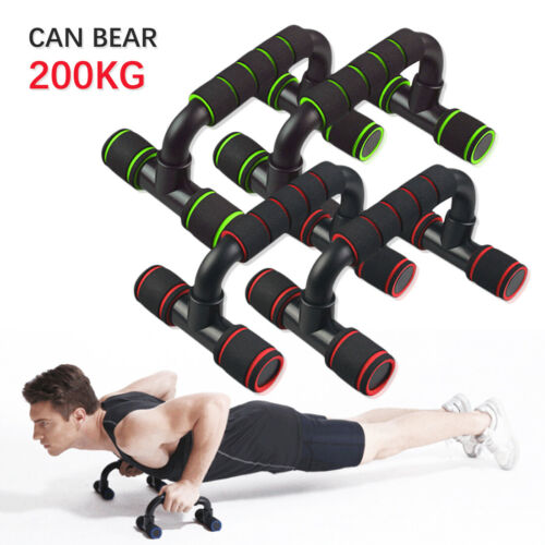 Push Up Bars Metal 2 Pieces Steel Pair Pushup Gym in Home Exercise Fit Workout