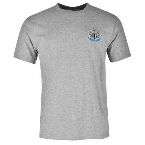 NUFC Mens Small Crest Tee Licensed Crew Neck Shirt Short Sleeve Lightweight