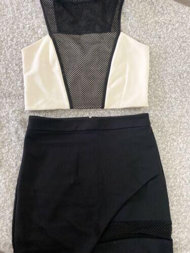 2 piece crop top skirt set