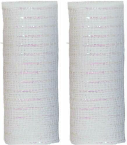 2~ Decorative Mesh Rolls 5 yards Color White Free Shipping!