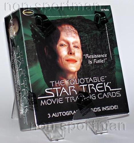 QUOTABLE STAR TREK MOVIE FACTORY SEALED BOX 24 PACKS