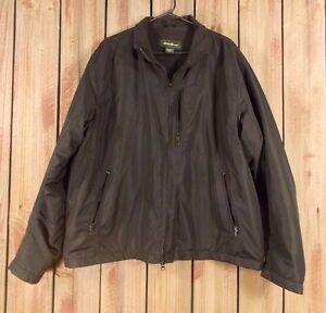 Eddie-Bauer-Jacket-Fleece-Lined-Black-Zip-Front-Men-039-s-Size-XL