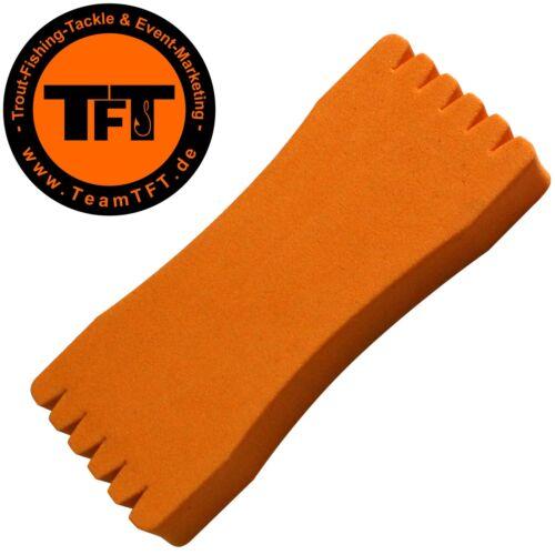 Vorfachaufwickler TFT Montageaufwickler 12,5x5,5x1,5cm orange Wickelbrettchen