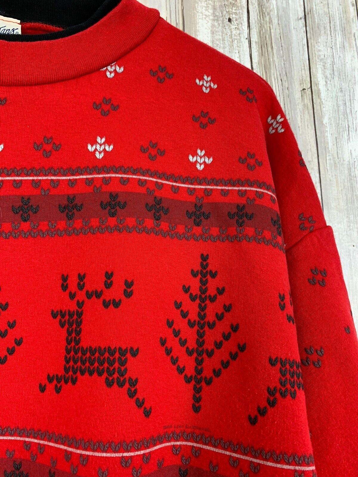 Artisans Print Embroidered Ugly Christmas Deer Is… - image 3