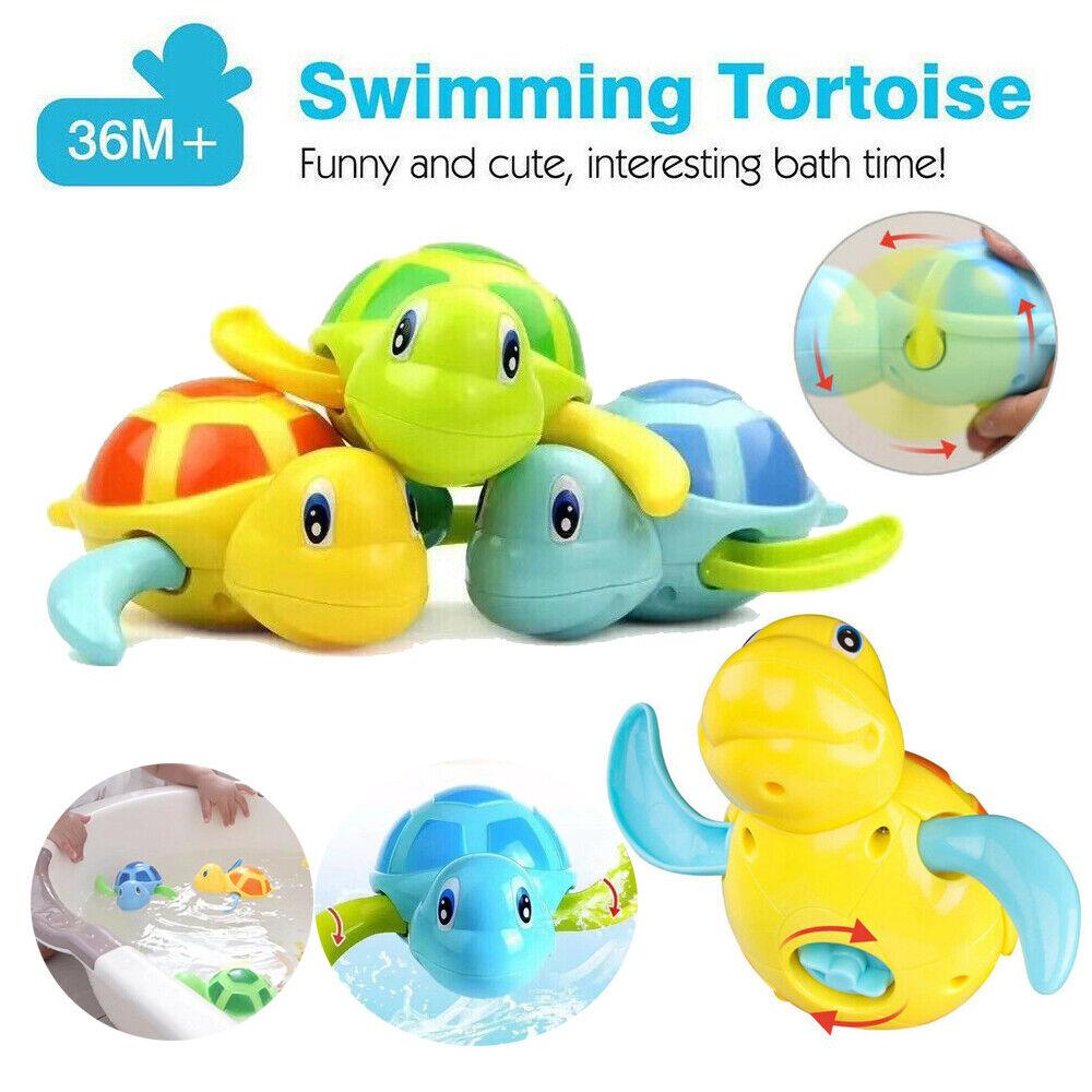 6 Packs Swimming Animal Turtle Pool Toys Baby Toddler Bath Tub Fun Toy Gifts