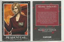 "2003 Resident Evil Outbreak ALYSSA ASHCROFT ""Promo Card"" NO#"