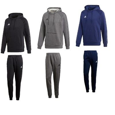 Adidas Core 18 Herren Baumwolle Trainingsanzug Jogginganzug Kapuzenjacke Fleece | eBay