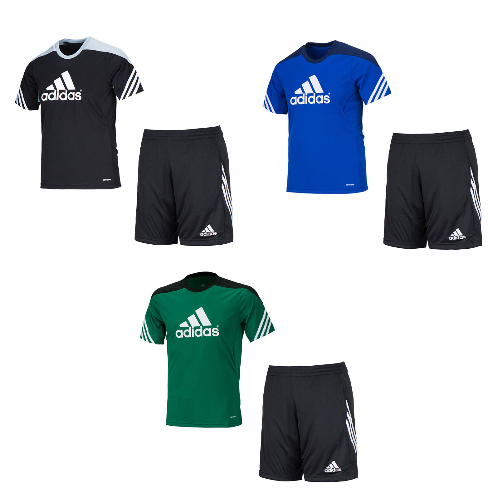 Adidas Youth Sereno 14 Training Set F49695-D82943 S S Jersey Pants Gym Junior