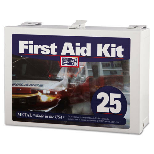 First Aid Kit for Up to 25 People 159-Pieces Steel