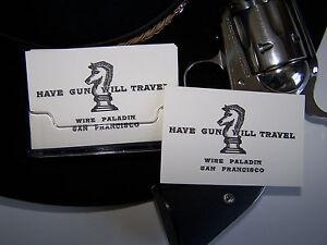 Have gun will travelpaladin 20 business card size cards image is loading have gun will travel paladin 20 business card colourmoves