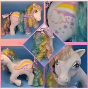 ❤️My Little Pony MLP G1 Vtg 1984 Rainbow Curl Ponies RAINCURL Rainbow Cloud❤️