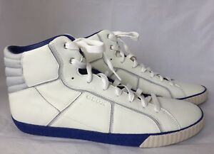 maquinilla de afeitar Mareo más  New Geox Respira U Smart R Men Sneakers Trainers Leather White Blue 12.5 Hi  Cut | eBay
