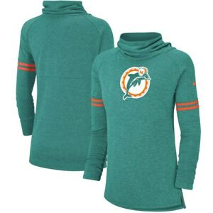 f6923c01 Details about Miami Dolphins funnel neck sweatshirt women's medium NEW with  tags throwback!