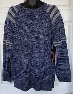 NWT-Yoki-Cotton-Blend-Pullover-Knit-Sweater-Crew-Neck-Long-Sleeves-Men-039-s-Sz-L