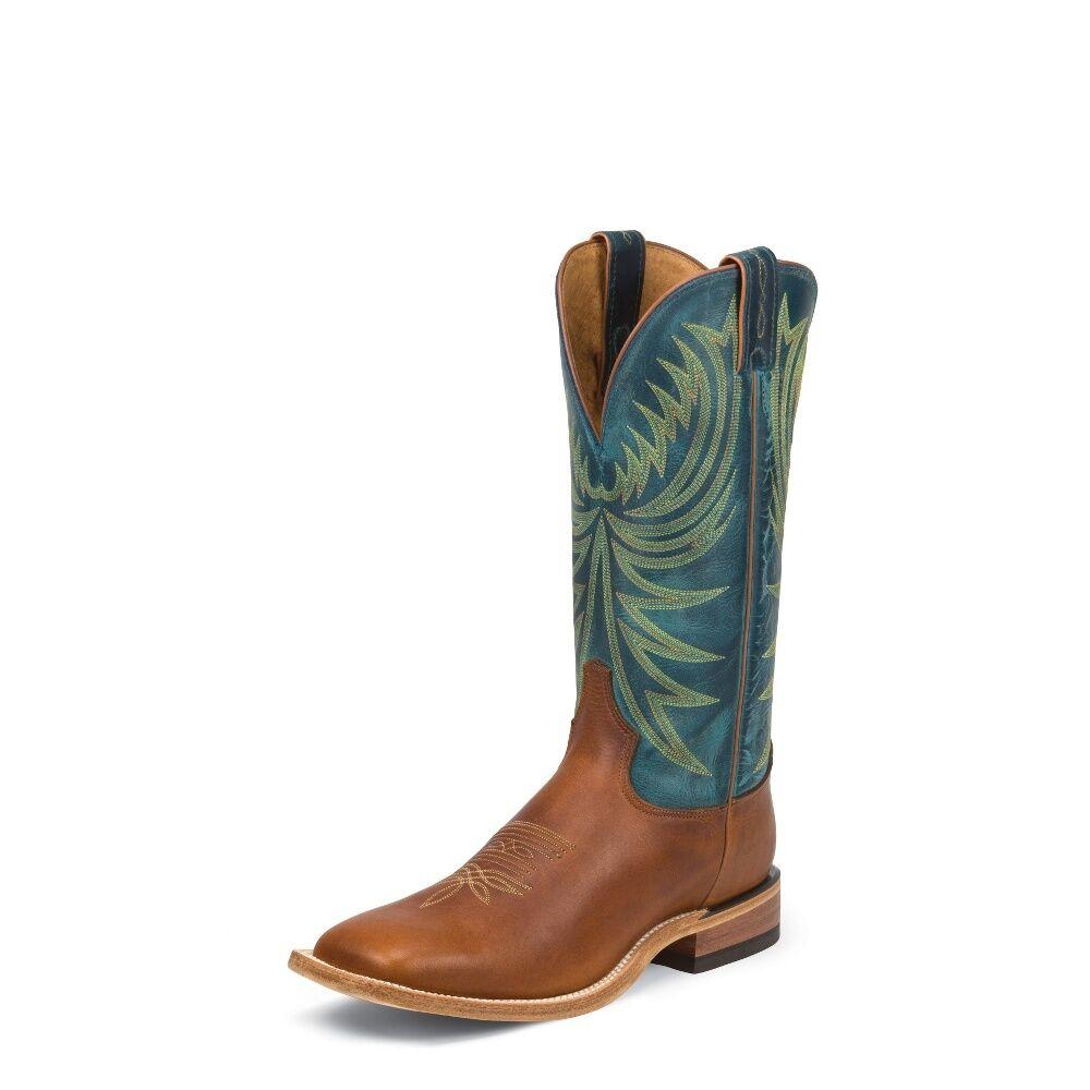 Tony Lama para Hombre Puntera Cuadrada botas Cowboy Bronceado rebelde - 7986