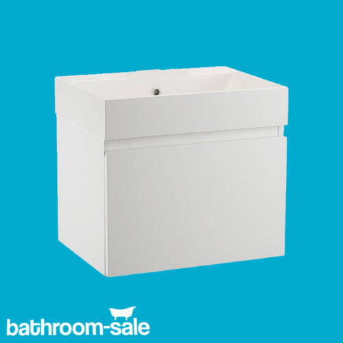 Mino 500 Gloss White Bathroom Wall Hung Basin Unit CompleteRRP: £399