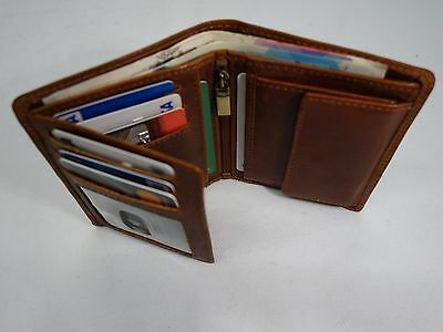 Quality Full Grain Veg Tan Leather Wallet Top Brand RFID Protected in Gift Box