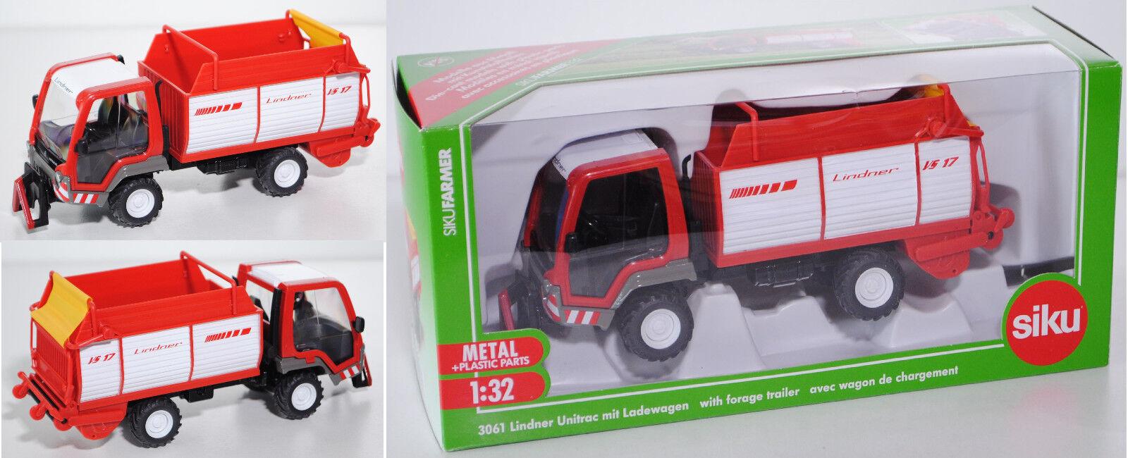 Siku Farmer 3061 Lindner Unitrac 82 (Typ Agrar, Serie 2) mit Ladewagen, 1 32 OVP