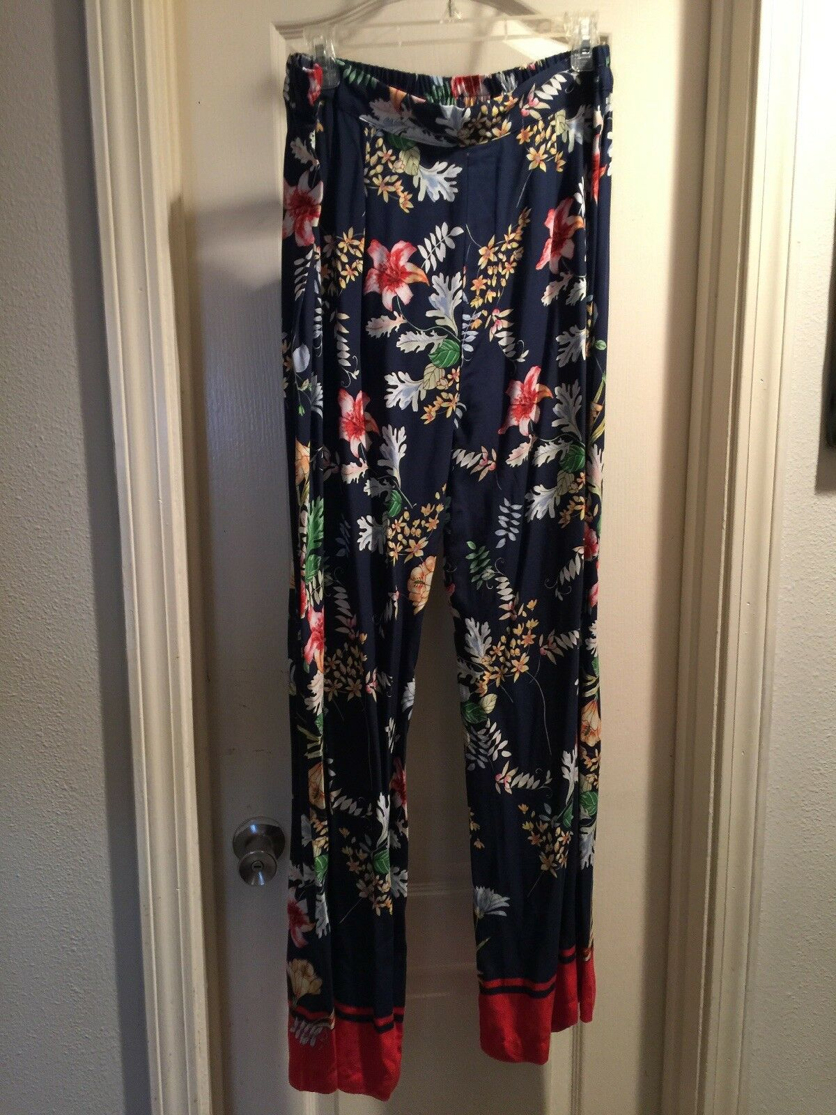 ️Hester's Orchard Floral Soft Lounge Casual Wide Leg Palazzo Pants Size L NWT