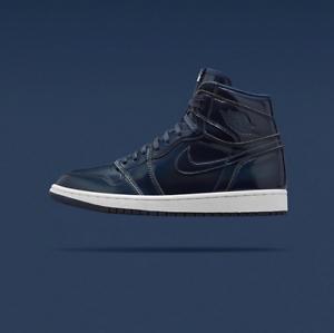 Nike Air Jordan Retro 1 High OG Dover Street Market size 8.5. Navy. 789747-401.