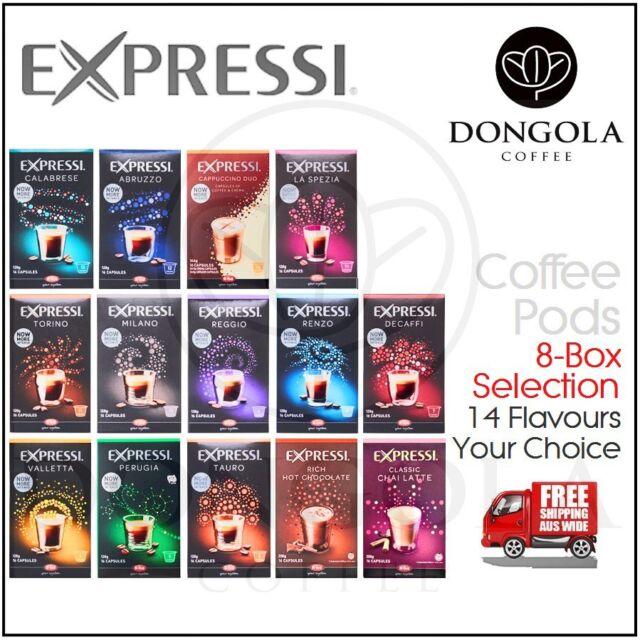 8 BOX (128) You Choose Expressi Automatic Coffee Machine Pods Capsules ALDI