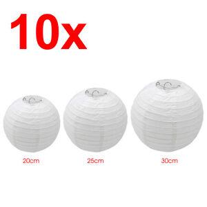 10 st ck papierlaterne h ngedekoration lampions - Papierlampe rund ...