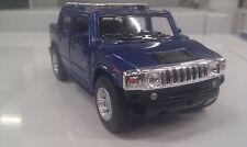 2005 Hummer H2 SUT blu kinsmart modello giocattolo 1/40 scala