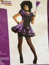 Dust Bunny Purple French Maid Junior Womens S (3-5) NIP Halloween Costume